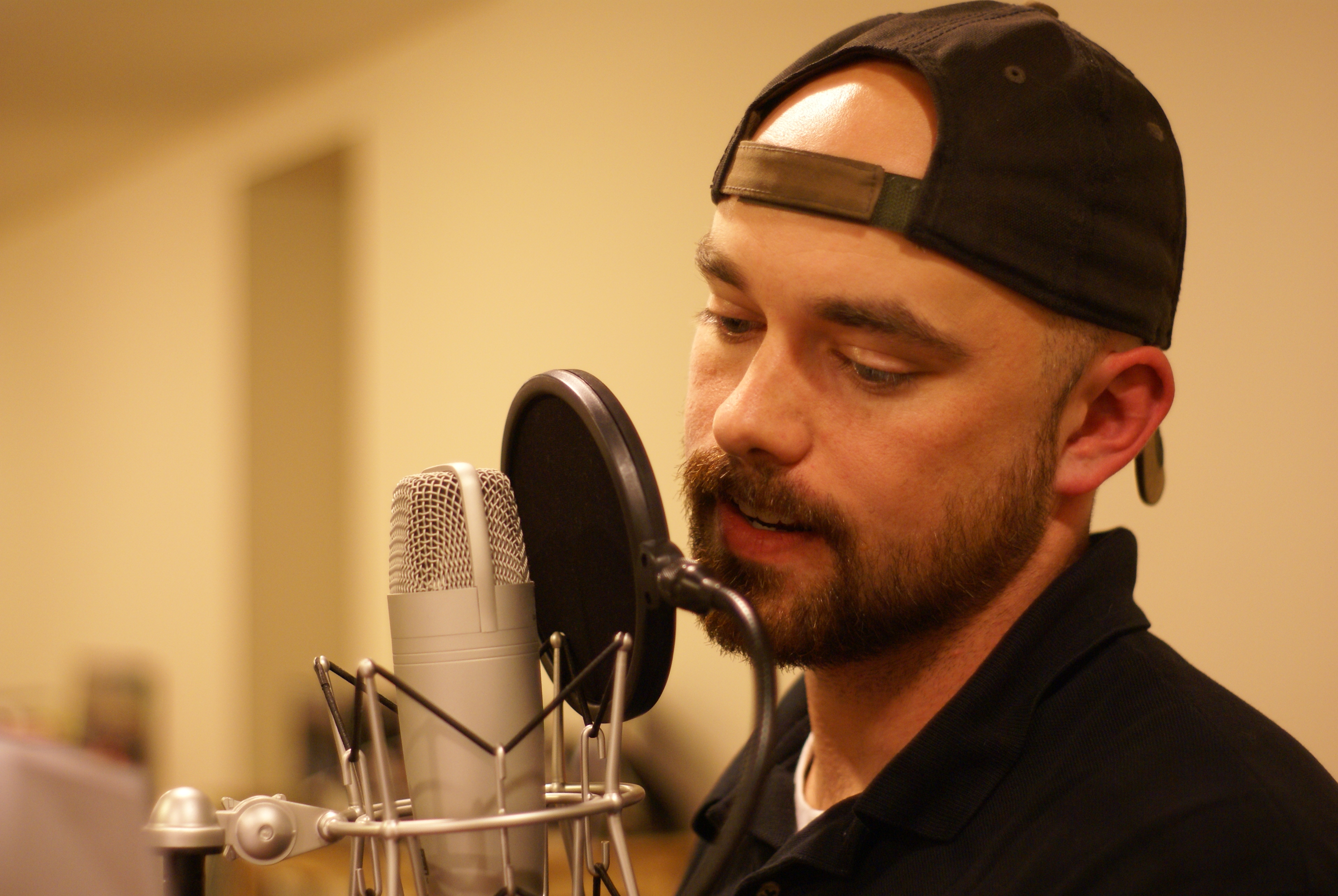 "Ryan Schile, recording ""Herbert West"""